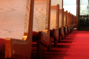 A row of pews.